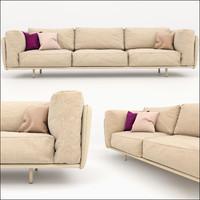 3d soft modern sofa model