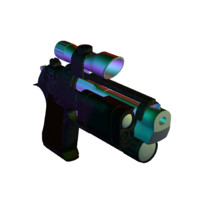 3d pistol attachments model