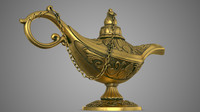 3d aladdin lamp
