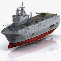 realistic mistral lhd amphibious assault 3d model