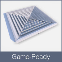 ready ceiling air vent 3d model
