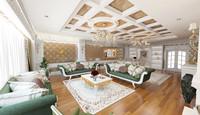 3d living room scene house modern