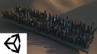 3d model sci fi cityscape