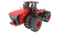 scraper tractor 3d model