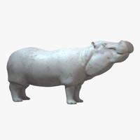 3ds max hippopotamus hippo