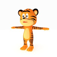 3d little tiger