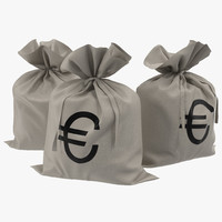 money bag euro obj