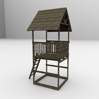 3ds max watchtower watch tower