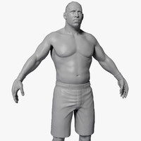 UFC Boxer High Poly