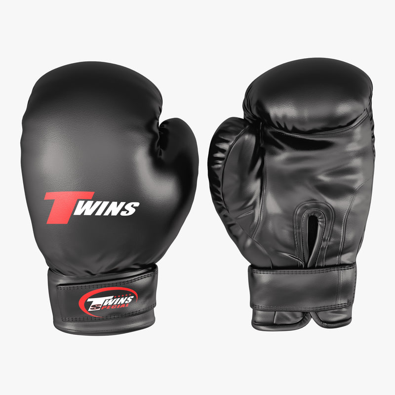Boxing Gloves Twins Black 3d model 00.jpg
