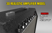 3d realistic amplifier model