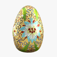 realistic golden egg 3d max