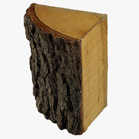 3d 3ds realistic wood log