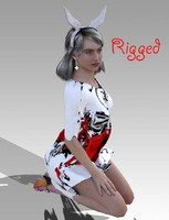 woman viola 3d model