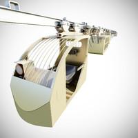 3d suspended railway cargo transport model