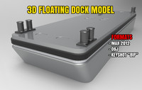 floating dock 3d max