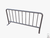free metal barrier pbr 3d model