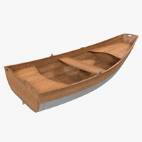 rowboat modeled realistic 3d model