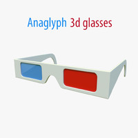 anaglyph glasses 3d model