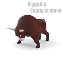 cartoon bull 3D models