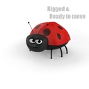 cartoon ladybug 3D models