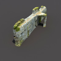3ds max english castle ruin