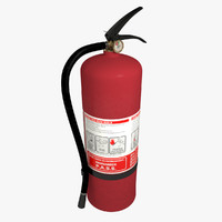 extinguisher v-ray 3d fbx