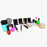 3d cosmetics makeup item model