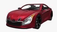 generic sport car 3d model
