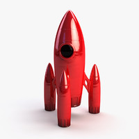 3ds max retro rocket