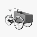 Freight bicycles 3D models