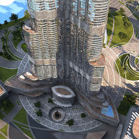 burj khalifa skyscraper 3d max