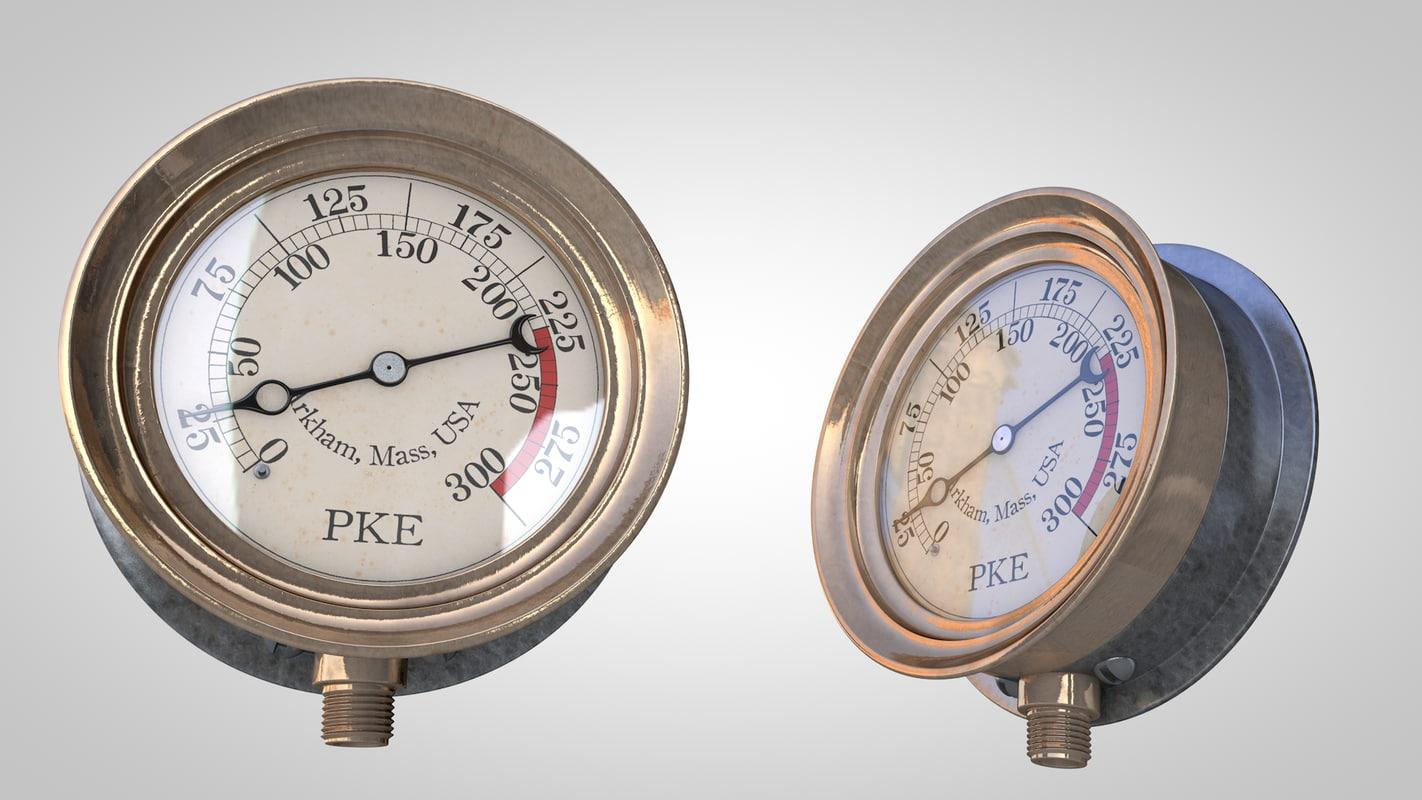 3d steampunk gauge - Steampunk pressure gauge ...