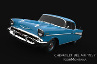 3ds max chevrolet bel air 1957