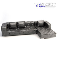modern corner sofa 3d max
