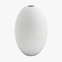 Diamond Cut Egg Vase