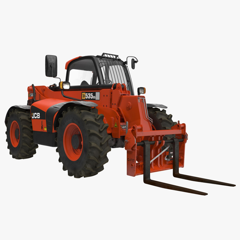 Telescopic Handler Forklift JCB 535 95 Red 3d model 00.jpg