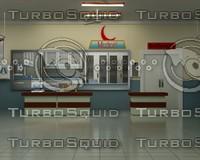 3d x hospital ward