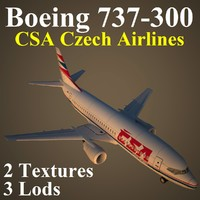 3d boeing csa airlines model
