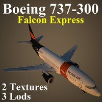3d model boeing fao airliner