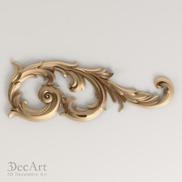carved scroll cnc 3d obj