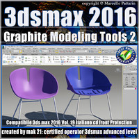 3ds max 2016 Graphite Modeling Tools 2 vol 19 cd front