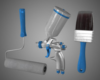 Paint Tools (Brush, Pulvelizatora, Paint Roller)