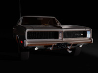 car 1970 charger rt 3d model