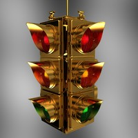 traffic light lamp 3d max
