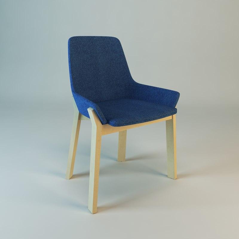 Chaise koila 3d model for Chaise quadriceps