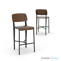 3d model prouve bar stool