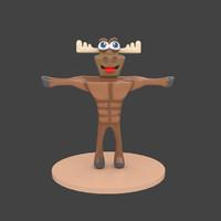 3d model moose mascot