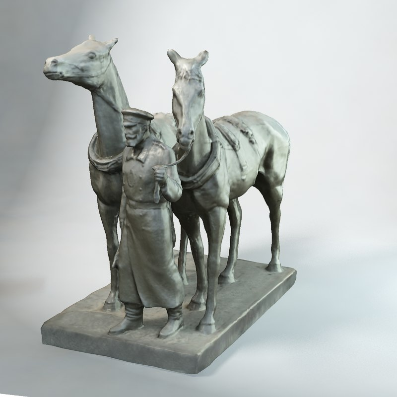 small horse statue 3d - photo #46