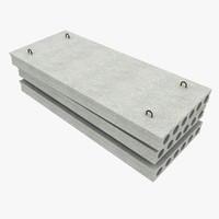 3d model concrete slabs 1